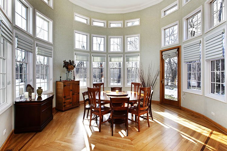 Hardwood Floor Dining Room