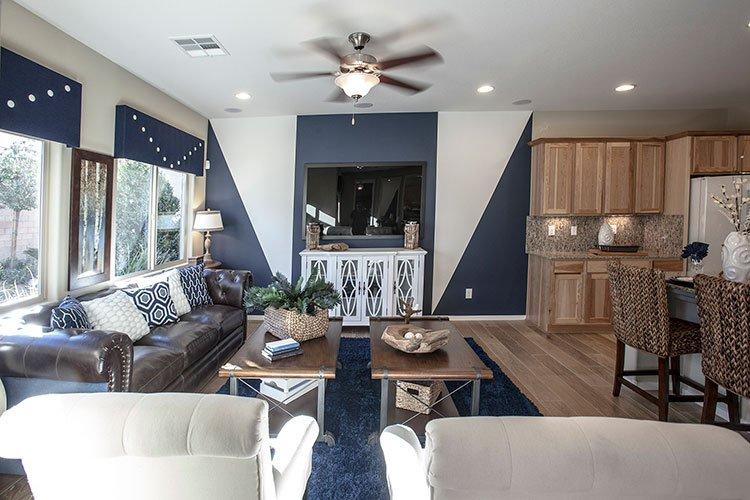 Light Hardwood Flooring in Living Room
